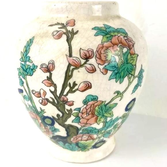 Antique Famille Noire Porcelain Ginger Vase